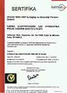 KARMA LED Aydınlatma OHSAS 18001